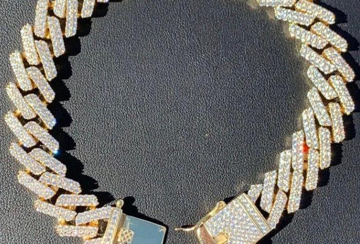 """Bracelet """"CUBAN SUPER SILVER"""" Moissanite - Argent 925"""