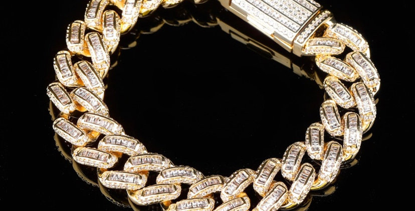 """Bracelet """"14 MM CUBAN BAGUETTE"""""""
