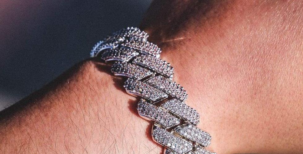 """Bracelet """"20 MM CUBAN PRONG"""""""