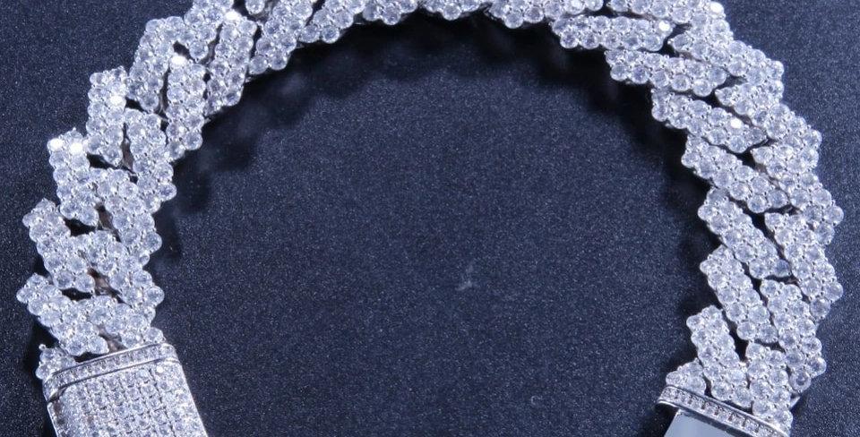 """Bracelet """"14 MM DOUBLE CUBAN PRONG"""""""