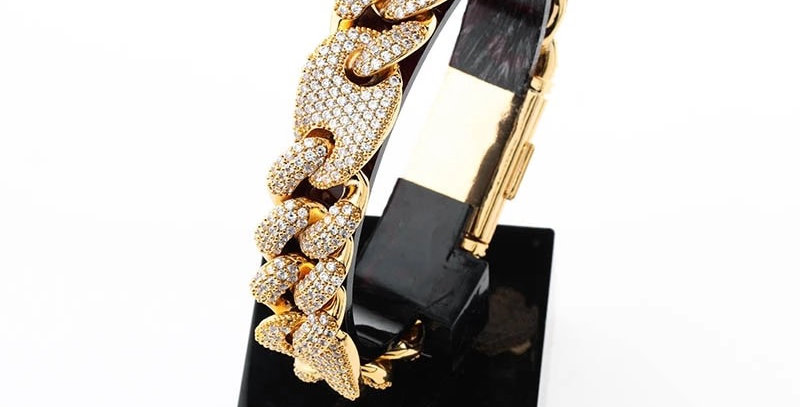 "Bracelet ""16 MM CRAZY GOLD CUBAN LINK"""