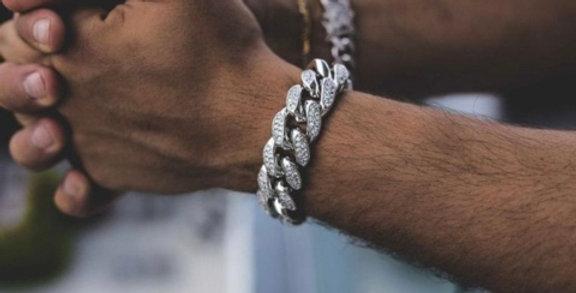 """Bracelet """"18 MM CUBAN LINK SILVER"""""""