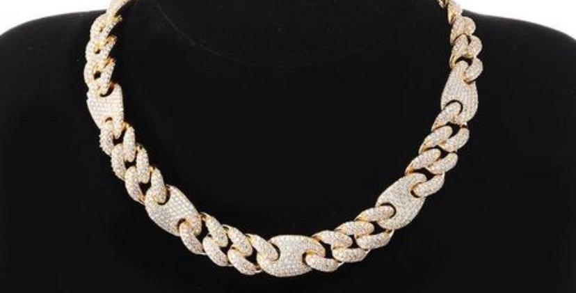 "Chaine ""16 MM CRAZY GOLD CUBAN LINK"""