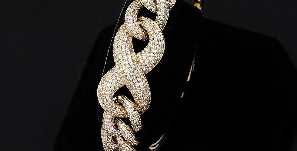 """Bracelet """"14 MM CUBAN LINK INFINITY"""""""