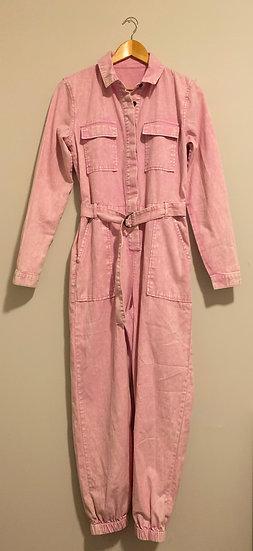 Vintage Denim Pink Acid Wash Boiler Suit