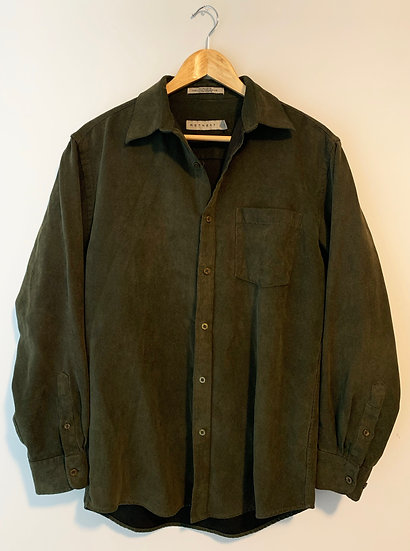 Vintage Military Style Corduroy Blouse