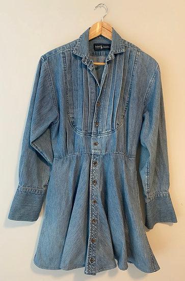 Vintage Ralph Lauren Denim Prairie Dress