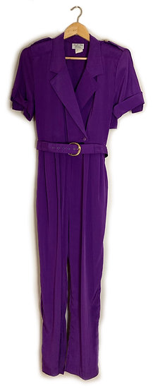 Vintage 80's Purple Jumpsuit