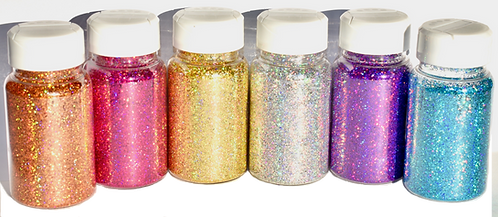 6 x HOLOGRAPHIC SHAKER PACK