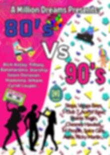 A Million Dreams 80's vs 90's Mix-Fits Show Poster