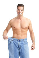 getting slim. Man with big jeans.jpg