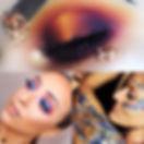 Eye makeup glitter body art