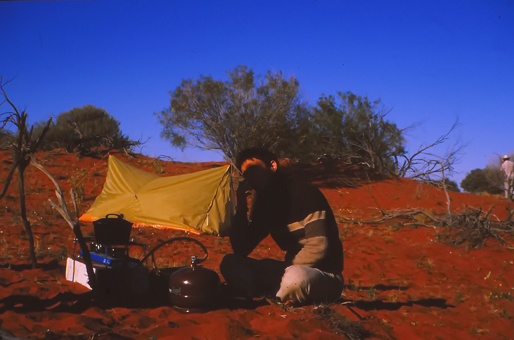Campsite in the Red Desert Sands, Roxby Downs