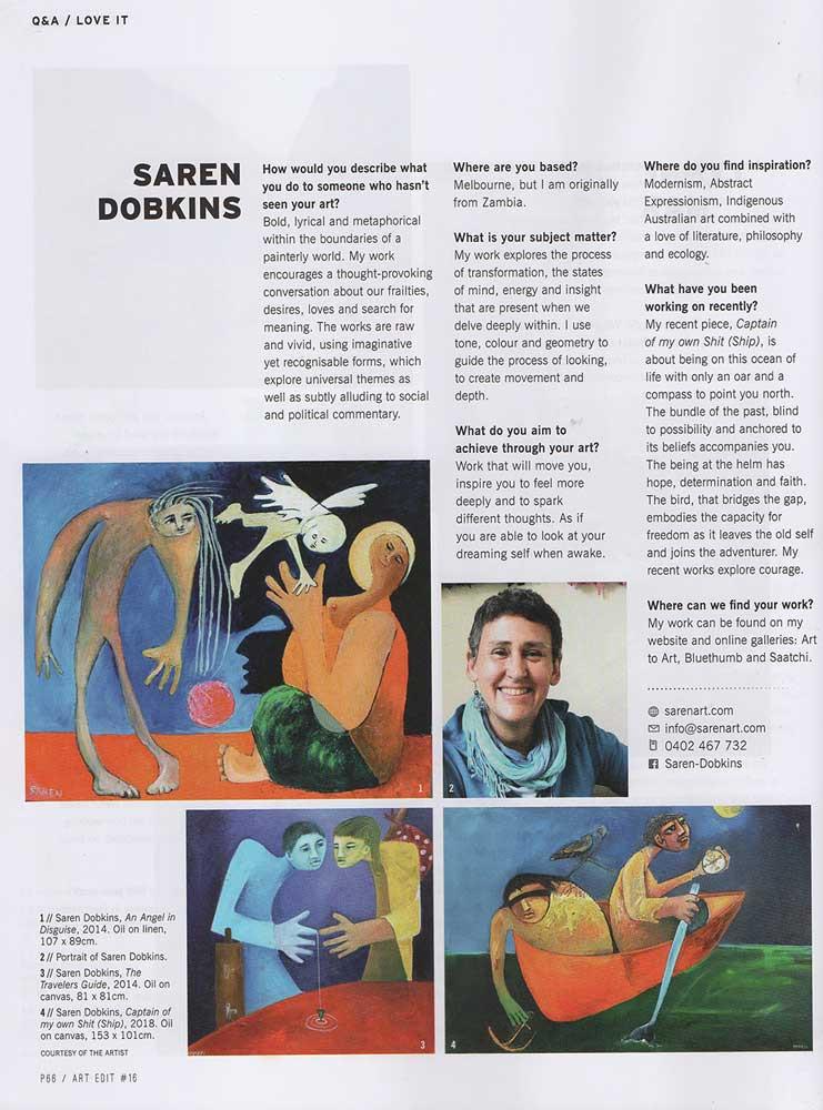 ArtEdit Q&A Saren Dobkins