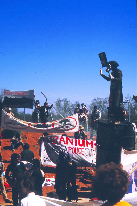 Benny Zable, Protesting the mining of Uranium