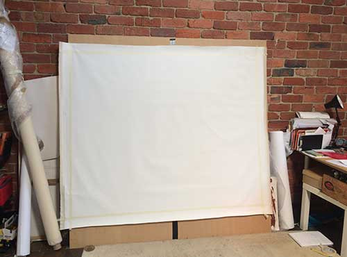 Blank Canvas on Support