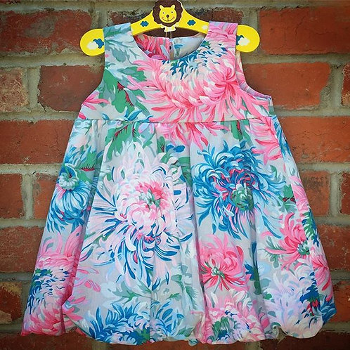 Floral Linen Bubble Dress