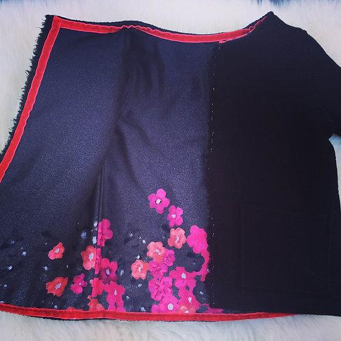 Coco Jacket Black Wool Floral