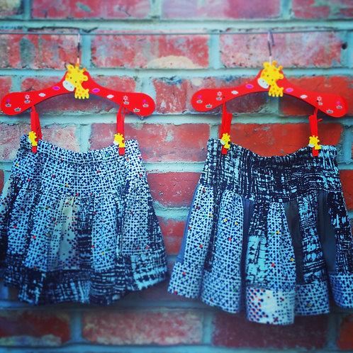 Sew Sustainable Twirly Skirt, Black & White