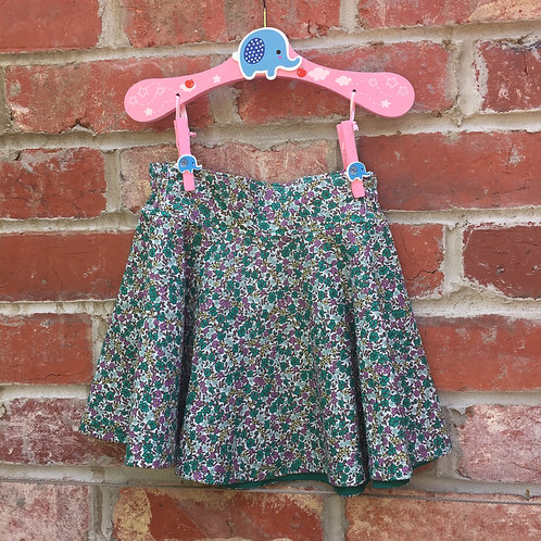 Cricle Skirt Green Floral