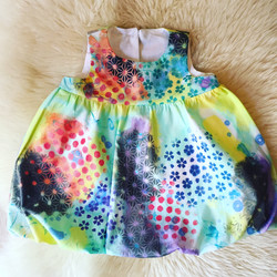 Hand Painted Bubble Dress