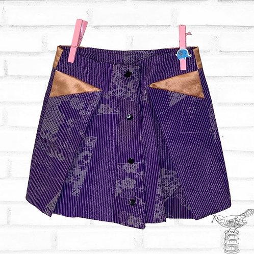 Origami Upcycled Skirt - Size 3