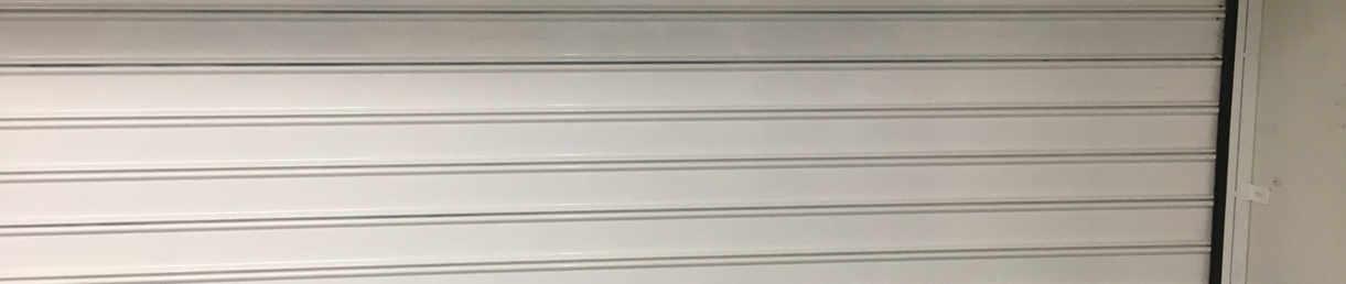 Rideau box de parking epoxy blanc