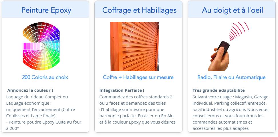 Options rideaux et Grilles metalliques - Peinbture epoxy - Telecommandes  -Coffres- Epoxy - Coffrage - Motorisation Rideaux.PNG