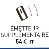 Telecommande pour rideau JCM