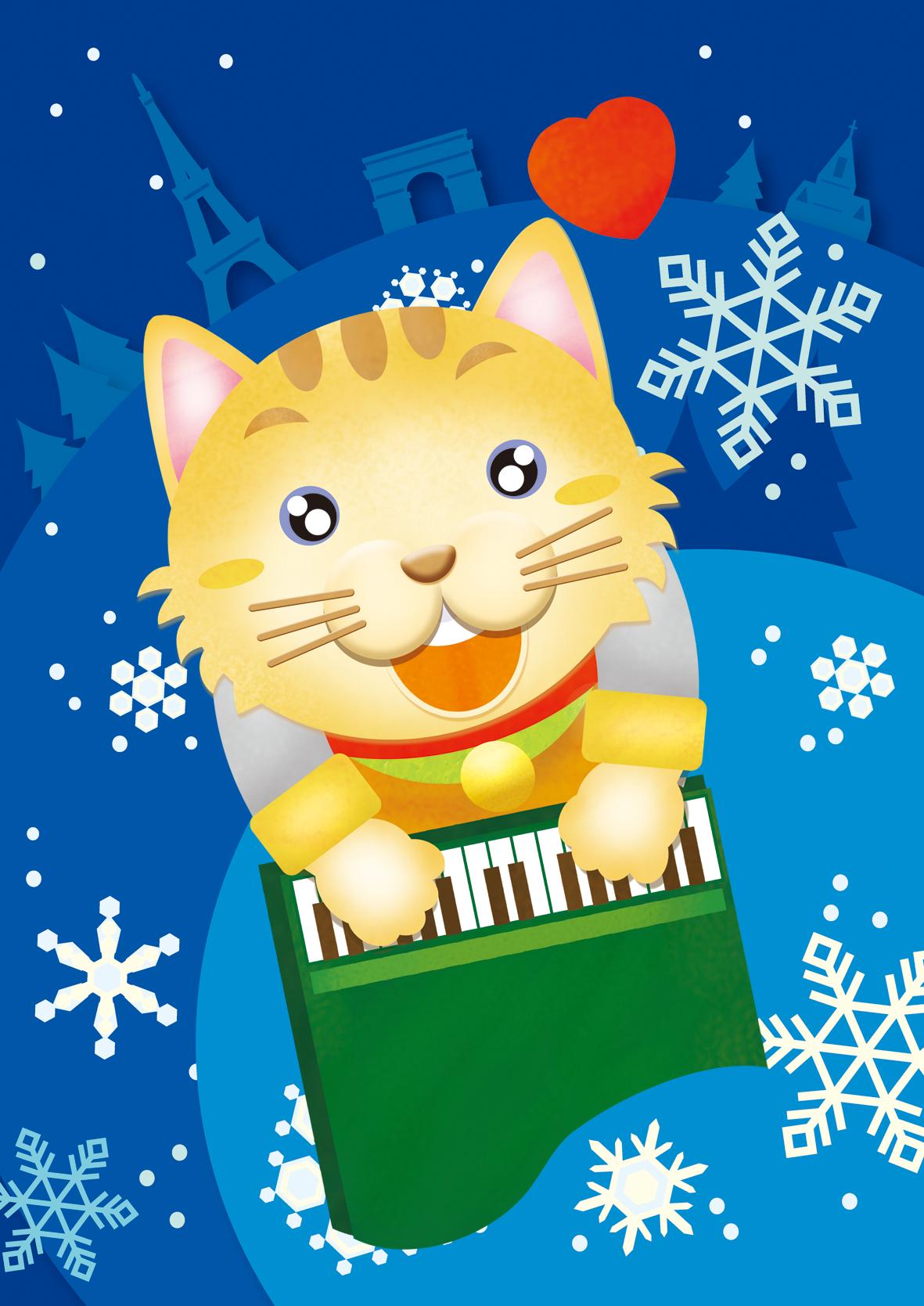 ピアノの弾きのネコ