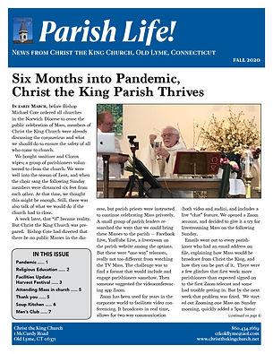 Parish Life Newsletter Thumbnail Fall20.