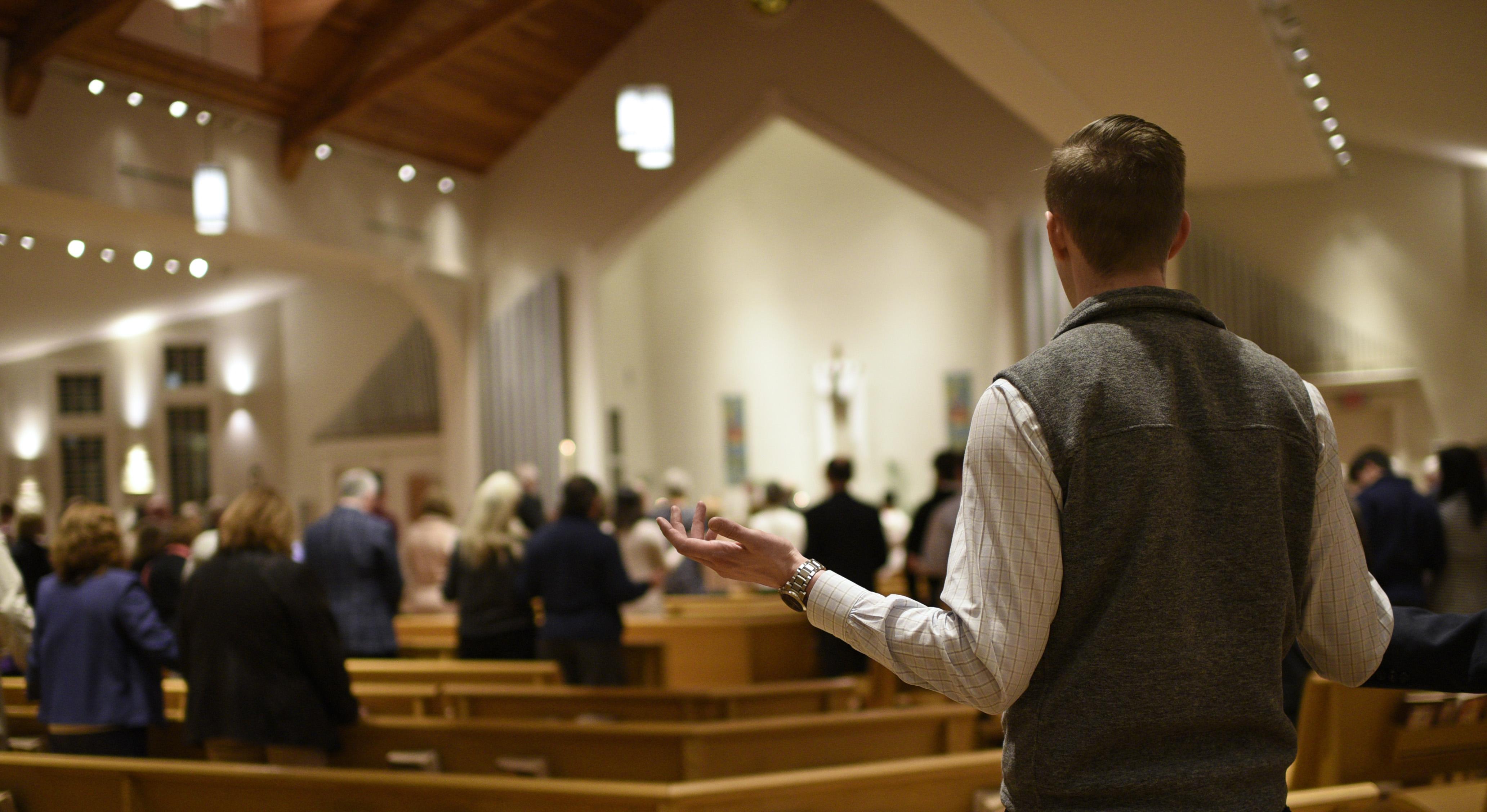 Pre-Covid evening Mass