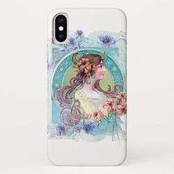 Vintage Art Nouveau Maiden