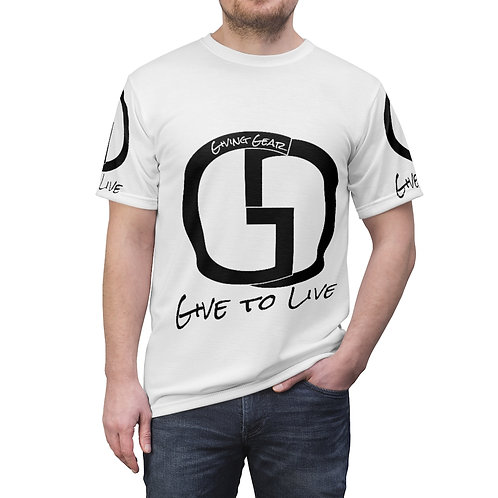 Unisex Giving Gear All Over logo Tee