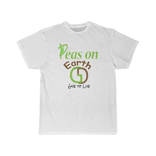 "Men's Giving Gear Short Sleeve ""Peas on Earth"" novelty Tee"