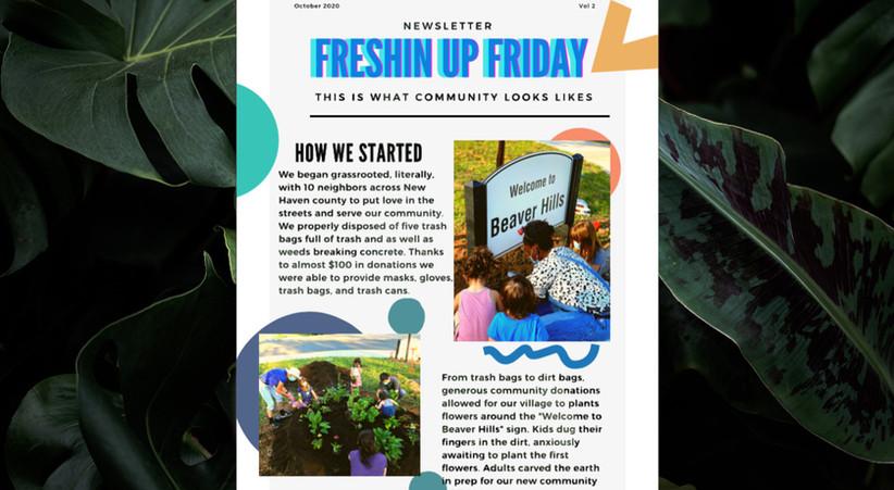 Freshin Up Friday Newsletter