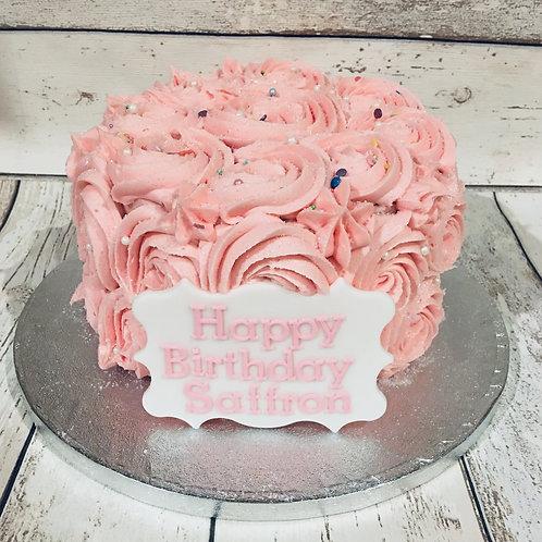 Buttercream Rosette Party Cake