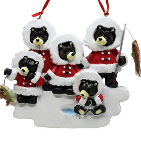 ice fishing black bear family 5