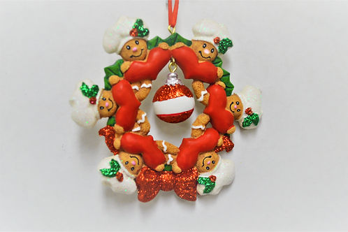 gingerbread wreath family 6