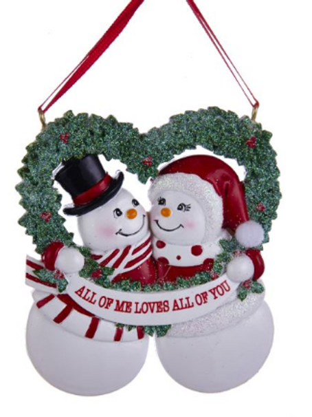 snow couple 'all of me loves all of you'