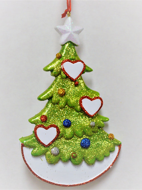 christmas tree with hearts 3