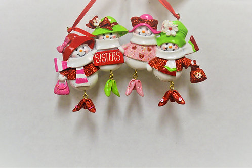 4 snowsisters with dangle shoes