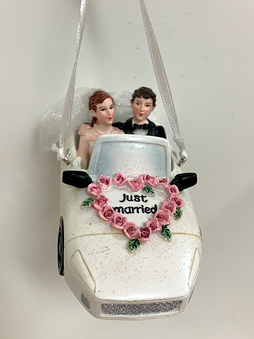 wedding couple convertible
