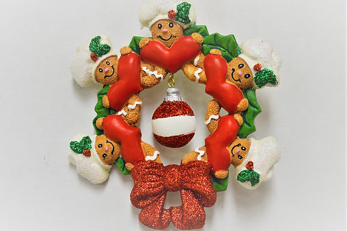 gingerbread wreath family 5