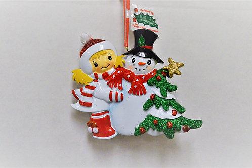 making snowman white coat