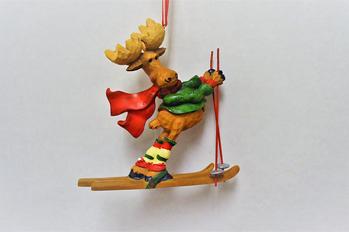 skiing moose