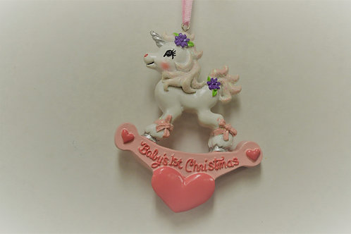 baby's first christmas unicorn
