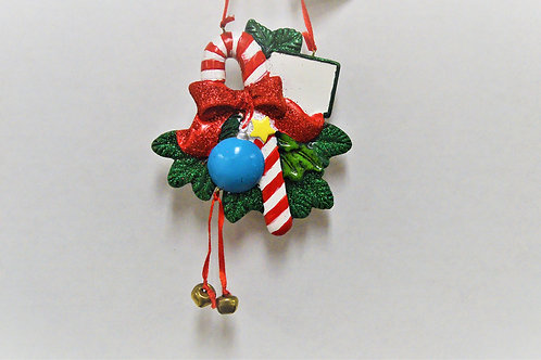 candy cane with ornament