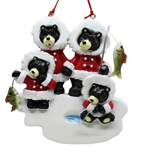 ice fishing black bear family 4