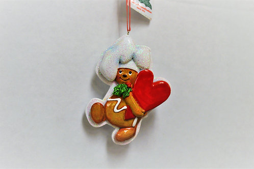 gingerbread chef with heart down